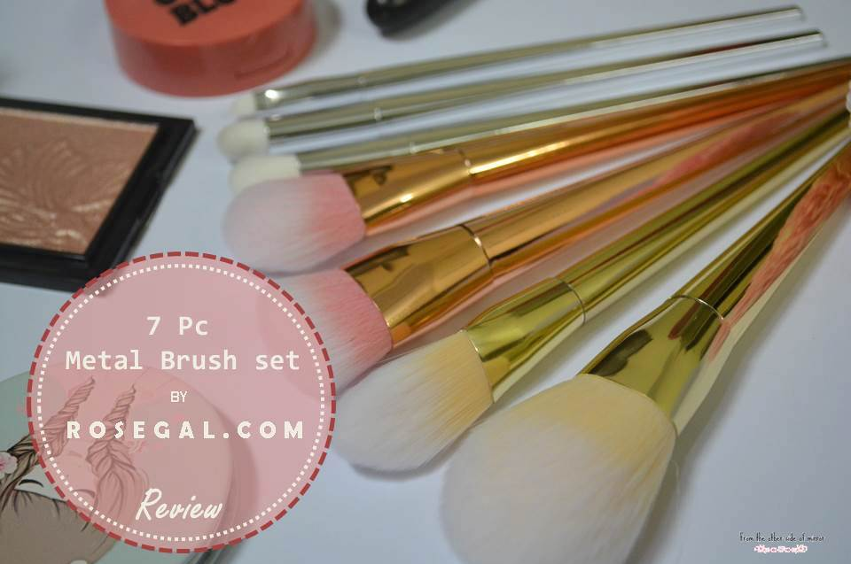 Beautiful, Soft and light METAL brushes by Rosegal.com – Review