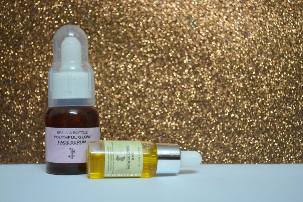 Expereincing Spa In a Bottle – 24k Gold Serum & Youthful Glow Face Serum