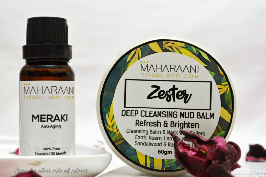 Zester Mud Cleansing Balm & Meraki Anti Aging Face Oil by Maharaani Holistic Skin Care (Review)