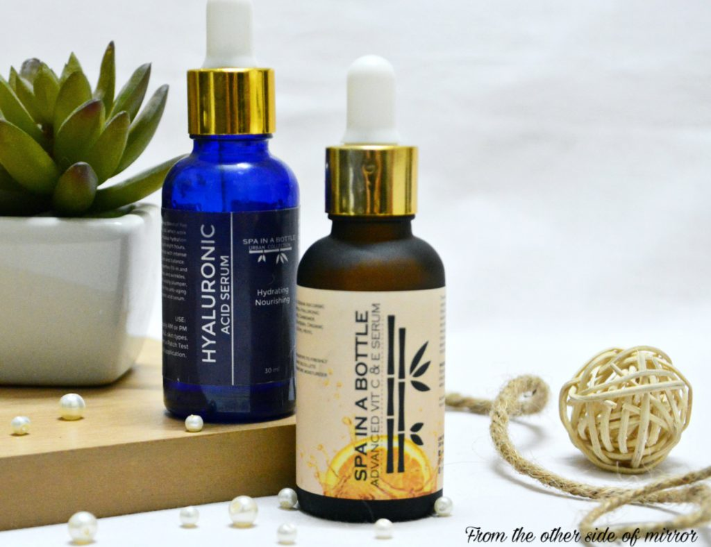 Spa In A Bottle Vit C & E Serum & Hyaluronic Acid Serum – Magic in every Drop [Review]