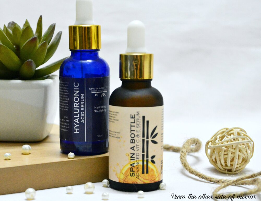 Spa in a bottle Hyaluronic Acid Serum and The Advanced Vit C&E Serum